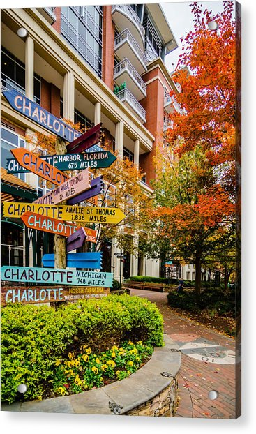 Charlotte City Skyline Autumn Season Acrylic Print