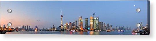 Shanghai Cityscape Acrylic Print