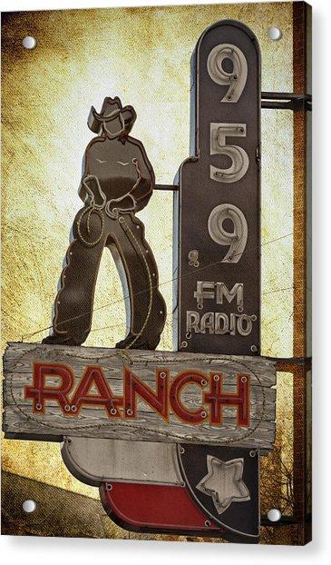 95.9 The Ranch Acrylic Print