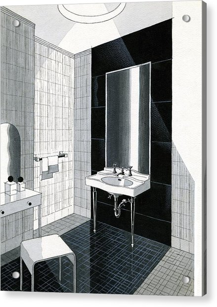 A Bathroom For Kohler By Ely Jaques Kahn Acrylic Print