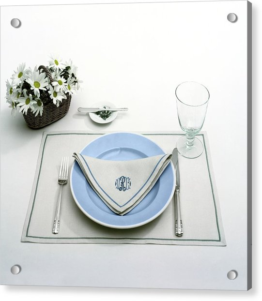 A Blue Table Setting Acrylic Print