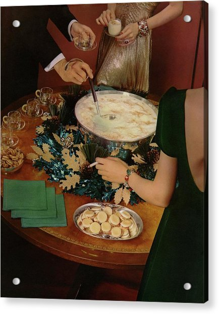 A Bowl Of Eggnog Acrylic Print