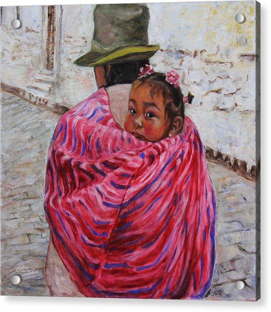 A Bundle Buggy Swaddle - Peru Impression IIi Acrylic Print