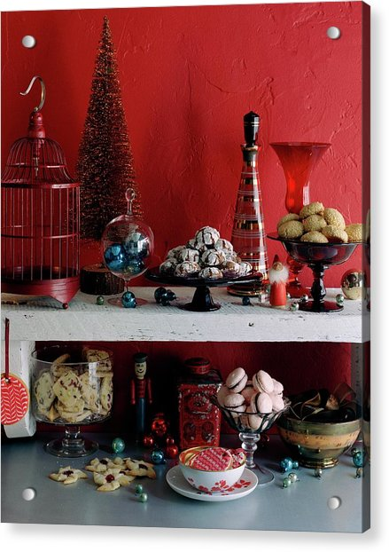 A Christmas Display Acrylic Print