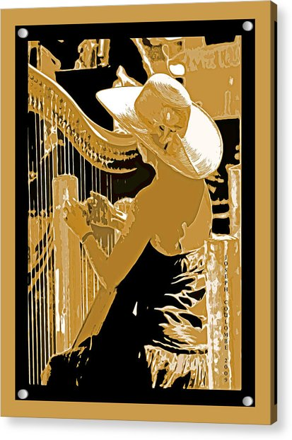 A Coos Bay Lady Musician Acrylic Print