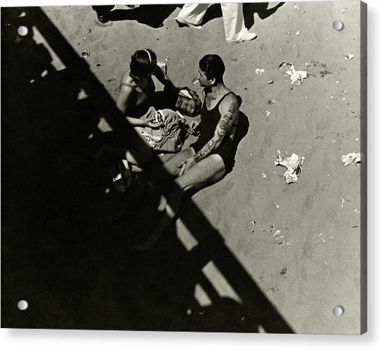 A Couple At Coney Island Acrylic Print