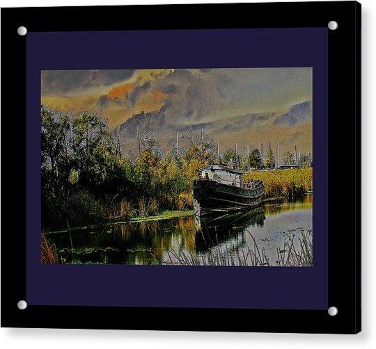 A Delta Tug Forgotten Acrylic Print