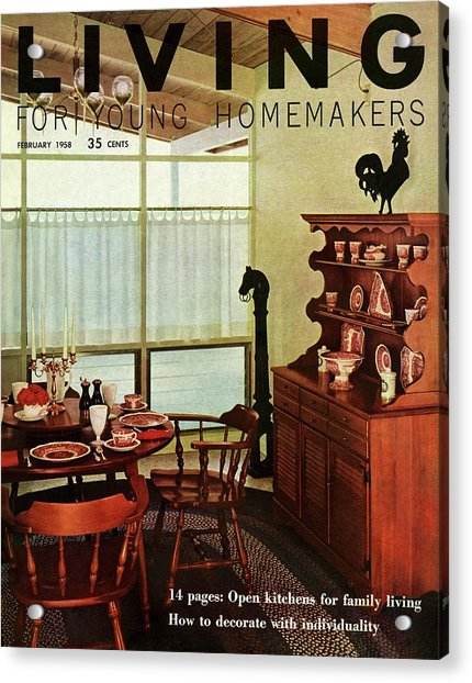 A Dining Room With Furniture By Ethan Allen Acrylic Print