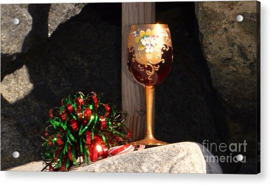 Acrylic Print featuring the photograph A Fine Beach Christmas by Laurie Lundquist