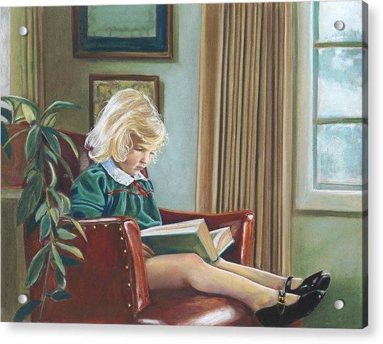 A Girl Reading Acrylic Print