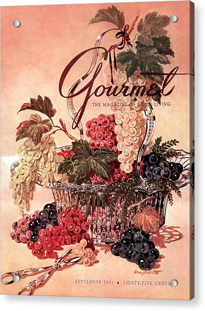 A Gourmet Cover Of Grapes Acrylic Print