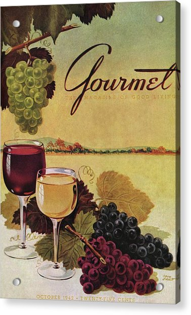 A Gourmet Cover Of Wine Acrylic Print