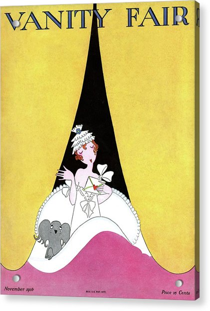 A Magazine Cover For Vanity Fair Of A Woman Acrylic Print