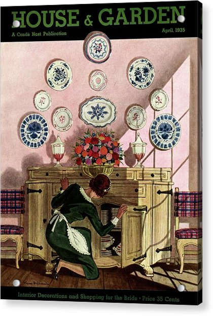 A Maid Getting China From A French Provincial Acrylic Print