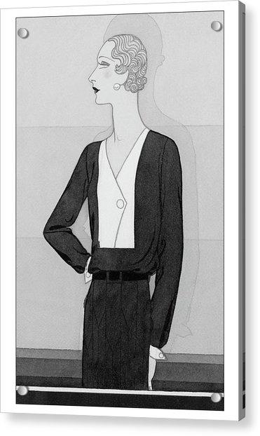 A Model In A Schiaparelli Suit Acrylic Print