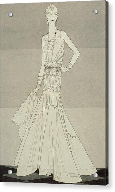 A Model Wearing Chanel Acrylic Print