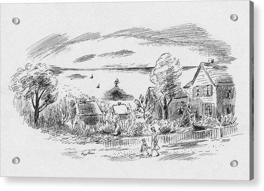 A New England House Acrylic Print