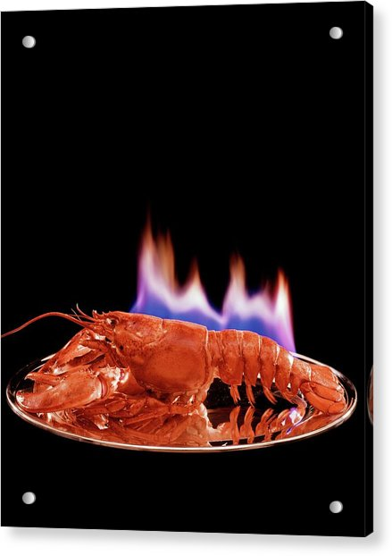 A Plate Of Lobster Flambe Acrylic Print