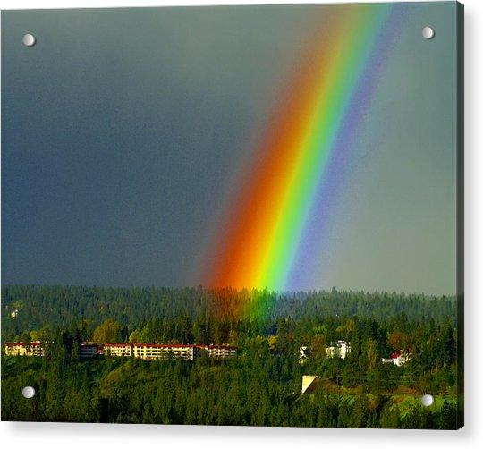 A Rainbow Blessing Spokane Acrylic Print