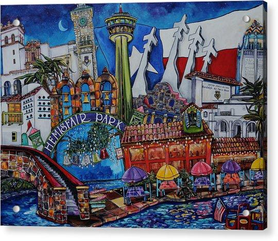 A Salute To San Antonio Acrylic Print
