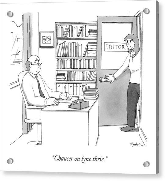 A Secretary Informs An Editor Acrylic Print