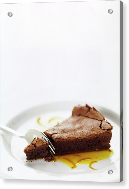 A Slice Of Chocolate Cake Acrylic Print