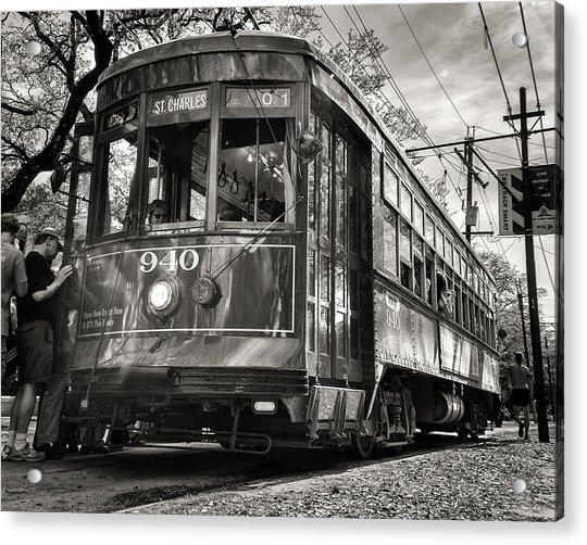 A Streetcar Named St Charles Acrylic Print