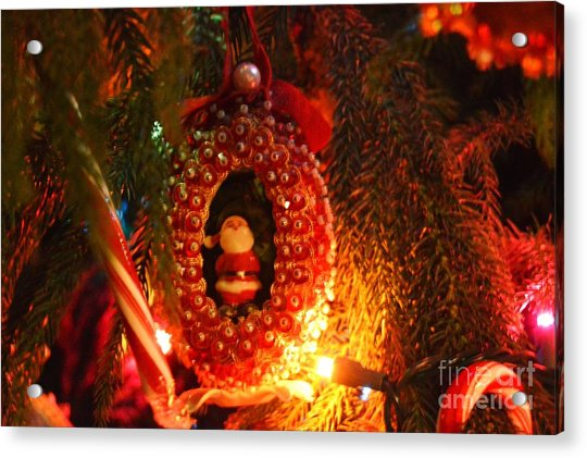 Acrylic Print featuring the photograph A Treasured Santa by Laurie Lundquist