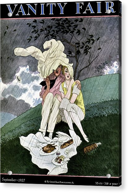 A Vanity Fair Cover Of A Couple Picnicking Acrylic Print