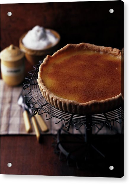 A Vinegar Pie On A Wire Stand Acrylic Print