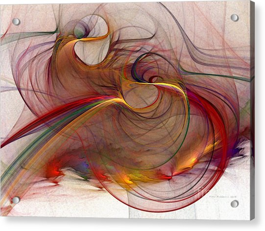Abstract Art Print Inflammable Matter Acrylic Print