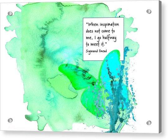 Abstract Quote 1 Acrylic Print