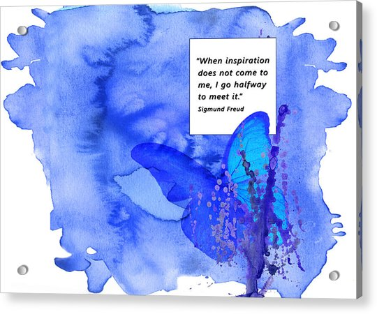 Abstract Quote 2 Acrylic Print