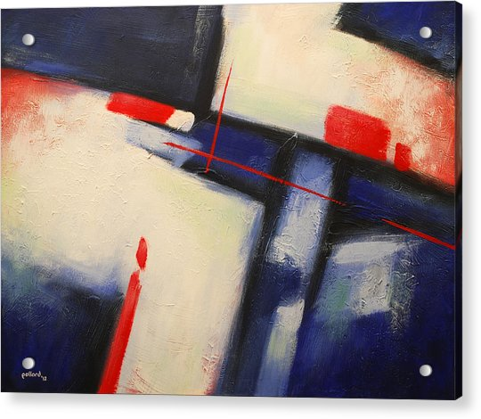 Abstract Red Blue Acrylic Print