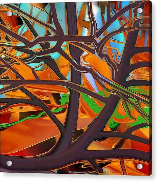 Abstract - Tree In Autumn Acrylic Print