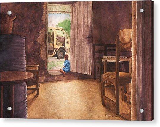 African Child's Dream Acrylic Print
