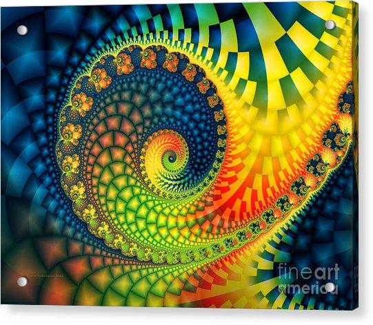 After The Rain-fractal Art Acrylic Print