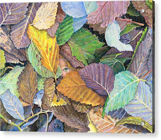 Alder Leaves And Faerie Acrylic Print