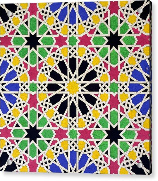 Alhambra Mosaic Acrylic Print
