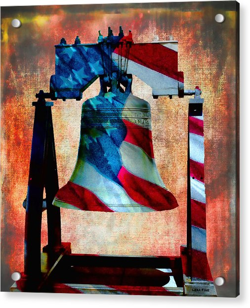 Liberty Bell Art Smooth All American Series Acrylic Print