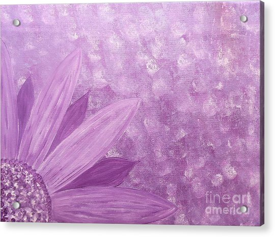 All Purple Flower Acrylic Print