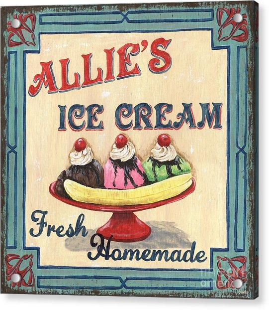 Allie's Ice Cream Acrylic Print