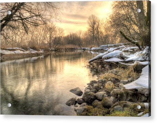 Along The Thames River  Acrylic Print