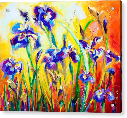 Acrylic Print featuring the painting Alpha And Omega by Talya Johnson