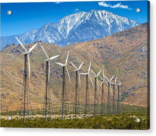 Alternative Power Wind Turbines Acrylic Print