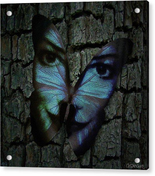 Am I A Butterfly Dreaming I Am A Human ? Acrylic Print
