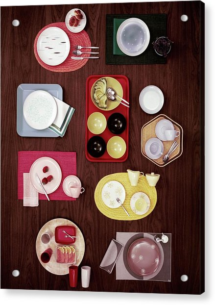 An Assortment Of Dinnerware Acrylic Print