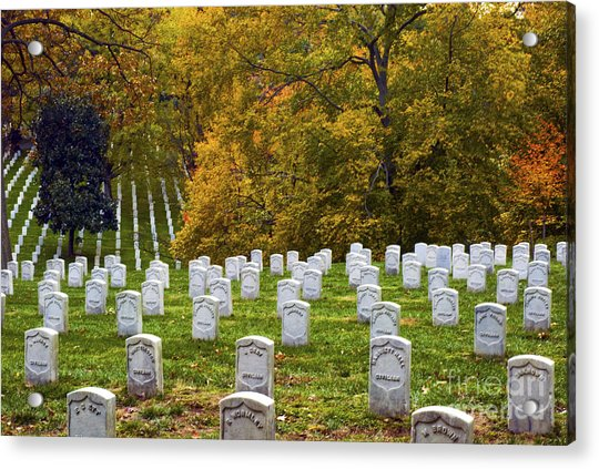 An Autumn Day In Arlington Acrylic Print