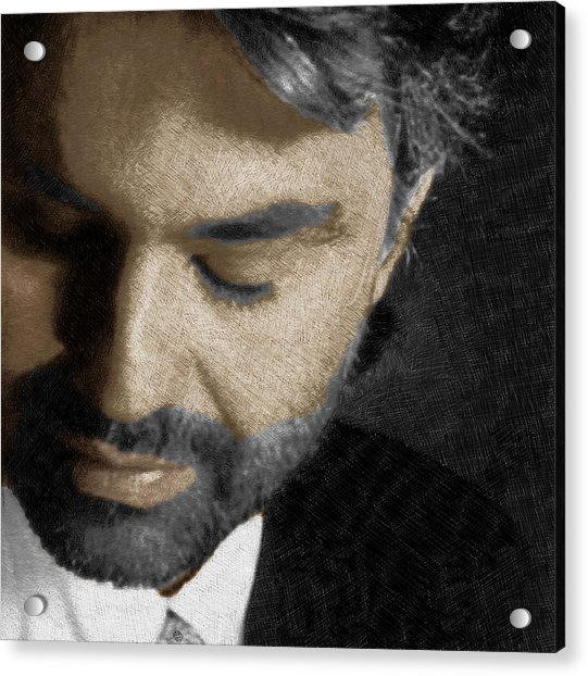 Andrea Bocelli And Square Acrylic Print