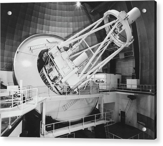 Anglo-australian Telescope Acrylic Print by Royal Astronomical Society/science Photo Library